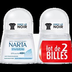 Déodorant femme invisible NARTA, 2x50ml