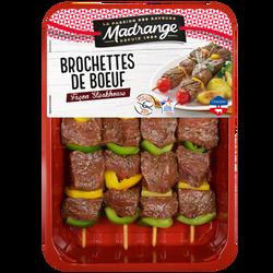 Brochette de boeuf steakhouse, MADRANGE, France, 4 pièces, barquette 600g