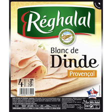 Blanc de dinde provençal 4 tranches HALAL Réghalal 120g