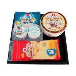 Plateau de 4 fromages assortis U, 745g