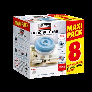 Rubson Recharge Absorbeur D'humidité Rubson Aero 360°, Pack De 8 Recharges