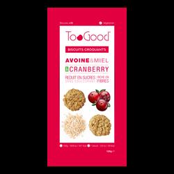 TOOGOOD biscuits cranberry, 125g