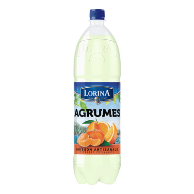 Boisson artisanale gazeuse agrumes de Corse LORINA, bouteille en plastique de 1,5l