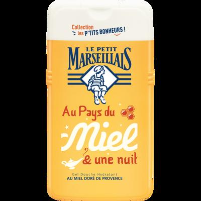 Douche bonheur miel de provence LE PETIT MARSEILLAIS, flacon de 250ml