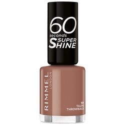 Vernis à ongles super shine 101 taupe throwback RIMMEL NU, 8ml
