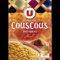 Graines de couscous aux épices U, 2 bôites, 250g