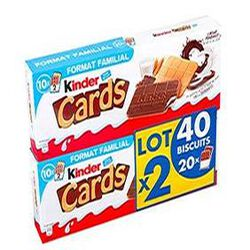 KINDER CARDS 512G FORMAT FAMILIAL 40 Biscuits