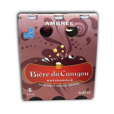 BIERE  DU CANIGOU AMBREE 3X33CL
