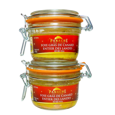 Foie gras de canard entier igp PANACHE DES LANDES x2 240g