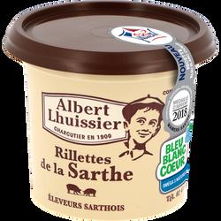Rillettes de porc Viande de Production Française  ALBERT LHUISSIER, 220g