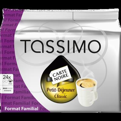 Café tassimo petit déjeuner classic L'OR, 24 pièces, 199g Format Familial