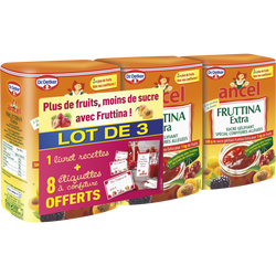 Sucre gélifiant pour confitures Fruttina Extra DR OETKER, 3 boîtes de500g soit 1.5kg