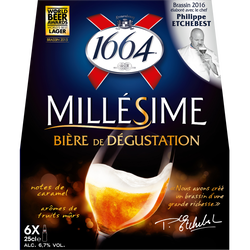 Bière blonde Millésimée 1664, 6,7°, 6x25cl