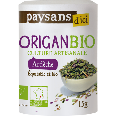 Origan d'Ardèche Bio PAYSANS, flacon de 15g