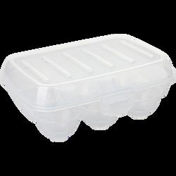 Boite à oeufs transparent-pour 6 oeufs