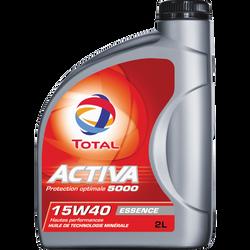 Huile 15W40 pour moteurs essence Activa 5000 TOTAL, 2l