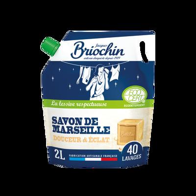 Recharge lessive savon de Marseille écocert sans mit cmit BRIOCHIN, 2l