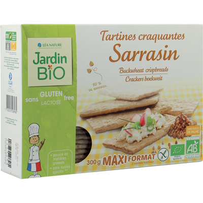 Tartines craquantes sarrasin sans gluten JARDIN BIO, 300g