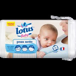 Coton carré peau nette bi-face LOTUS BABY, x85
