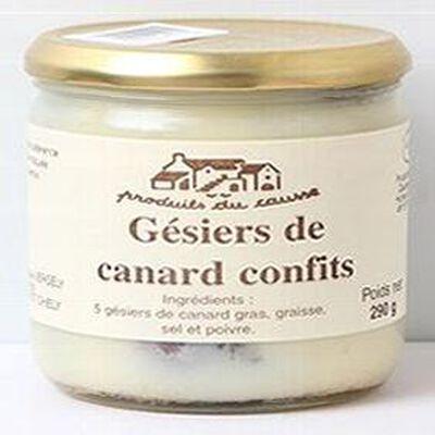 Gésiers de canard confits, Produits du causse, 290g