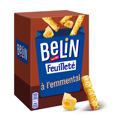 Crackers feuilleté emmental BELIN, paquet de 85g