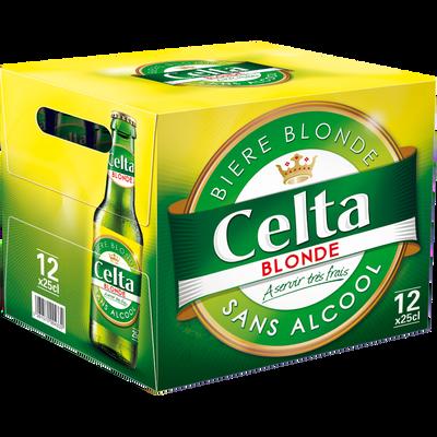 Bière sans alcool CELTA, pack de 12x25cl