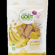 Carrés à la banane bio GOOD GOUT, dés 8 mois, pot de 50g