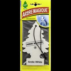 Sapin parfumé ultra frais ARBRE MAGIQUE blanc, parfum moderne etrafraîchissant avec une note citronnée