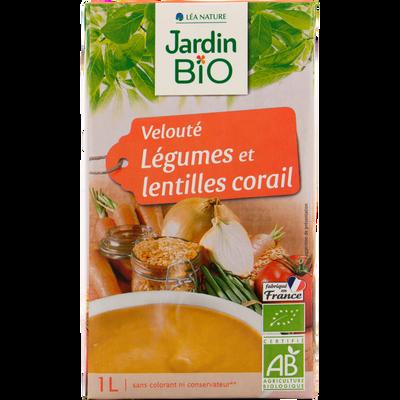 Jb velouté légumes et lentilles corail bio JARDIN BIO 1L