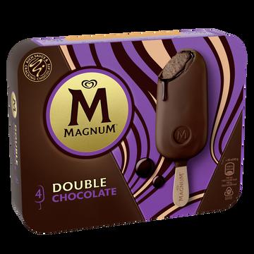 Magnum Glace Bâtonnets Magnum Double Chocolat X4