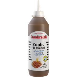 Coulis de crème de caramel beurre salé CARABREIZH, squeezer 600g