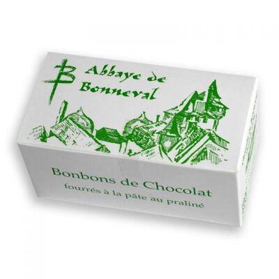 chocolat fourrés à la pâte au praliné de l'Abbaye de Bonneval paquet de 250g