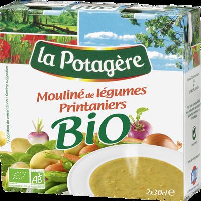Mouliné de légumes printaniers bio LA POTAGERE, 2x30cl soit 60cl