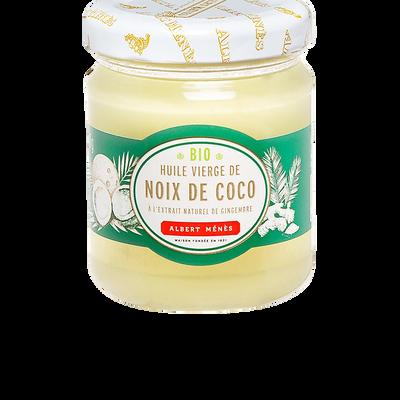 Huile vierge bio de coco à l'extrait de gingembre ALBERT MENES, 190 g