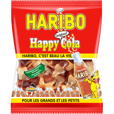 Confiserie happy cola HARIBO, sachet de 300g