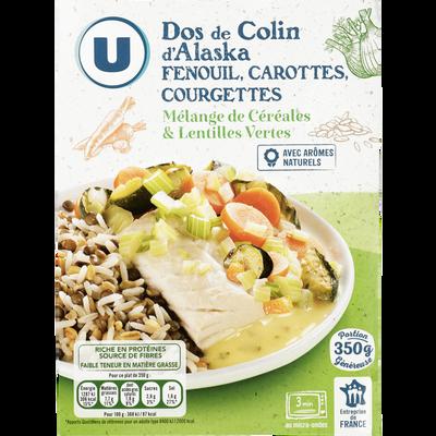 Colin Alaska légumes mélange de céréales et lentilles vertes cuites U,350g