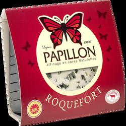 Roquefort AOP au lait cru de brebis 32% de matière grasse PAPILLON, 125g