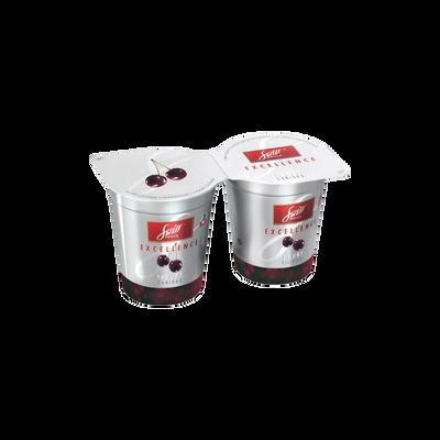 Yaourt à la crème sur préparation de cerises SWISS DELICE, 2x125g
