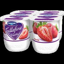 Spécialité laitière aux fruits édulcorant fraise 0% TAILLEFINE, 4x125g