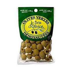 Olives vertes dénoyautées LE BRIN D'OLIVIER, 120g