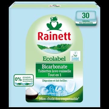 Rainett Tablette Pour Lave Vaisselle Ecolabel Tout En Un Rainett, X30
