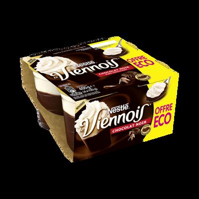 Dessert viennois lacté au chocolat noir NESTLE 4x100g  offre économique