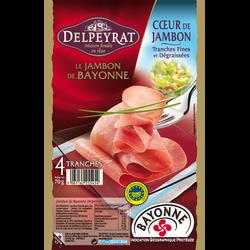 Coeur de jambon de Bayonne DELPEYRAT, 4x70g