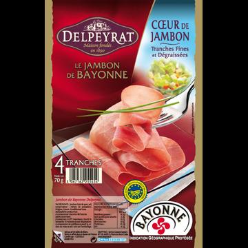 Delpeyrat Coeur De Jambon De Bayonne Delpeyrat, 4x70g