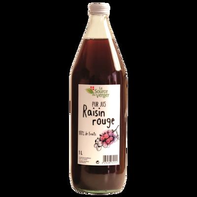 Jus de raisin rouge LA SOURCE DU VERGE, bouteille 1l