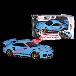 Porsche pouvant transporter 9 voitures MAJORETTE 35cm-roue libre avecfonction de pilotage et sn original porscheracing-fonction try me