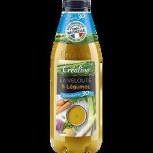 Créaline Velouté 5 Légumes Sel Réduit, , 950ml
