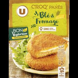Croq'panés blé et fromage U BON & VEGETARIEN, 2x100g