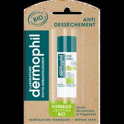 Stick pour les lèvres bio anti-dessèchement DERMOPHIL, 4g