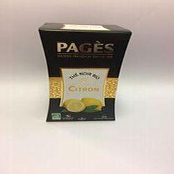 thé noir bio citron PAGES 20 sachets